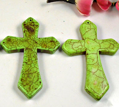Lime Green Large Pendant Cross