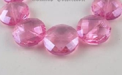 Faceted Pink 30x30x11mm