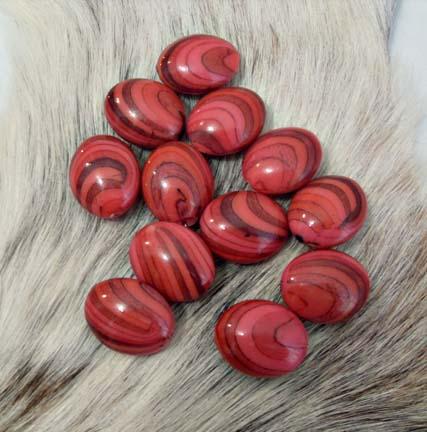 Pink Ovals 30 X 24mm