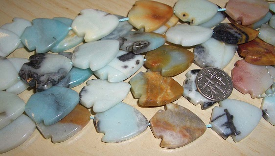 Genuine Amazonite beads 20mm x 22mm